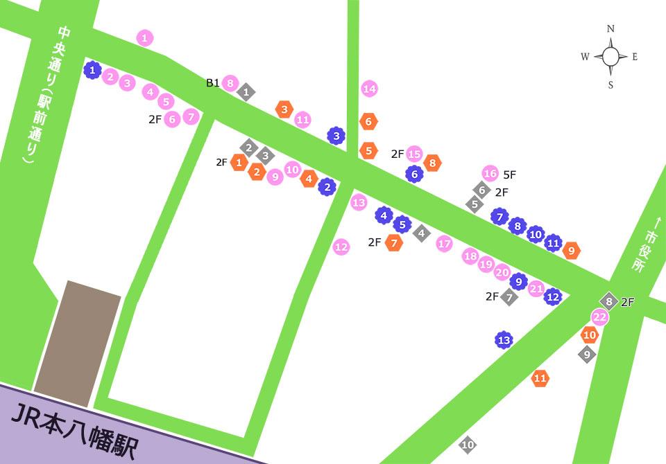 商店街お店一覧マップ