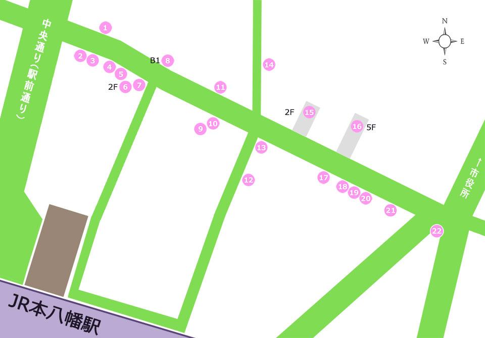商店街呑み処マップ