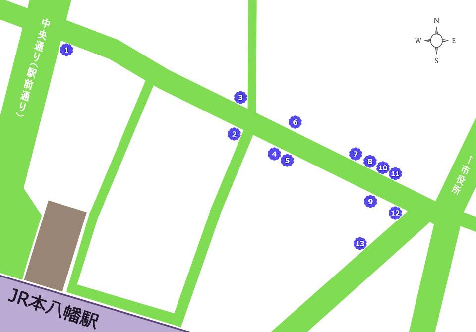 商店街買物処マップ