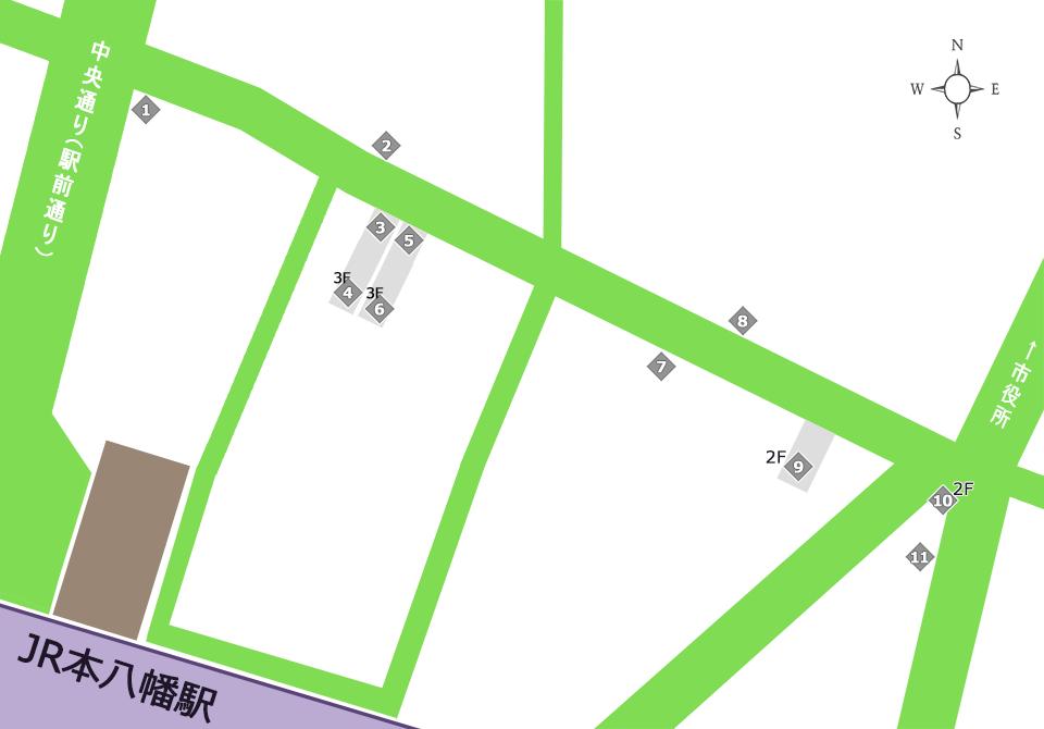 八幡一番街商店街マップ(その他サービス)