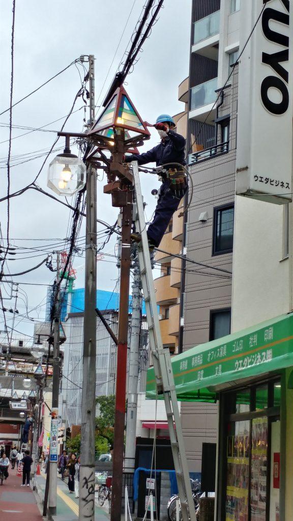 街路灯リフレッシュ工事