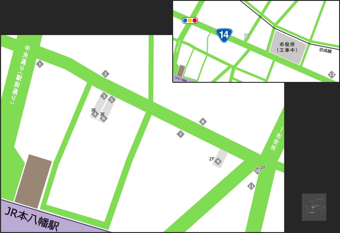 八幡一番街商店会・その他サービスマップ
